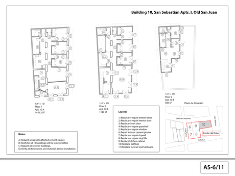 As-built floor plans for restoration