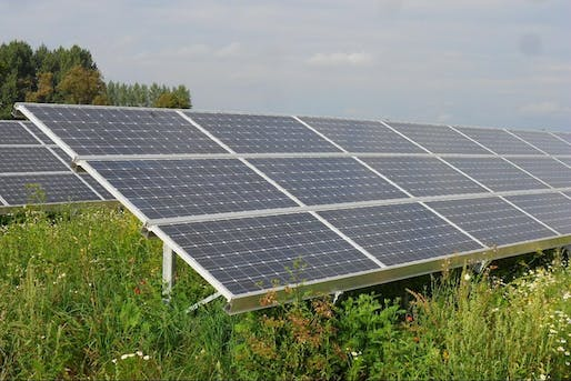 "Conventional photovoltaic solar cells (pictured above) struggle to achieve full efficiency without direct sunlight. Biogenic solar cells have the potential to fill that gap. Photo: Thomas Kohler/<a href=""https://www.flickr.com/photos/mecklenburg/6037863041/"">Flickr</a>"