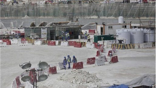 Migrant workers in Qatar continue to face dire working and living conditions. (Image via bbc.com)