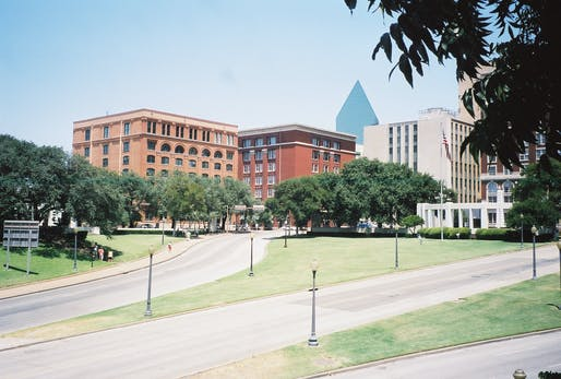 A view of Dealey Plaza in Dallas, Texas. Image courtesy of Wikimedia user Brodie319.
