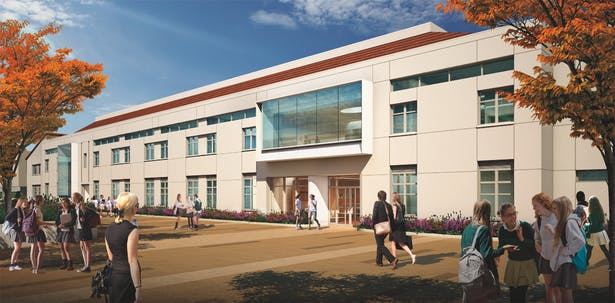 New Academic Center - exterior view, The Archer School for Girls