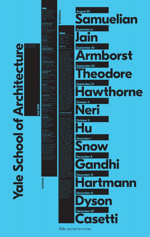 Poster courtesy of Yale School of Architecture