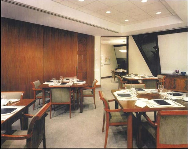 Executive Dining Room with doors closed