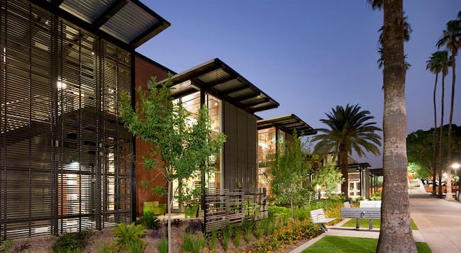 AIA announces the 2014 COTE Top Ten Green Projects. Arizona State University Student Health Services; Tempe, Arizona by Lake Flato Architects + Orcutt Winslow. Photo Credit: Bill Timmerman