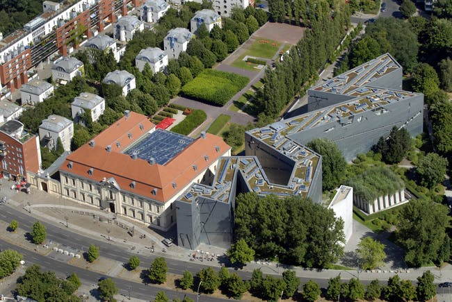 An aerial view of the Jewish Museum. Credit: Guenter Schneider via Studio Libeskind