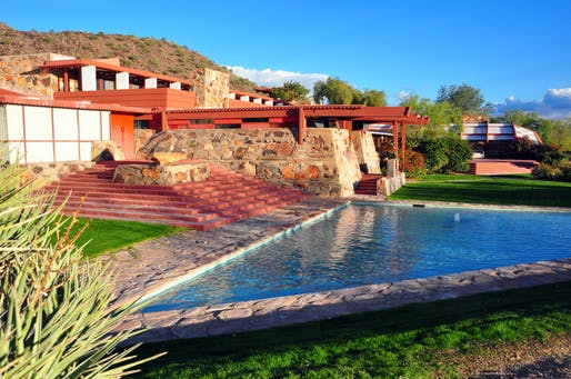 Taliesin West National Historic Landmark, home of the Frank Lloyd Wright Foundation. Image: Andrew Horne/Wiki Commons.