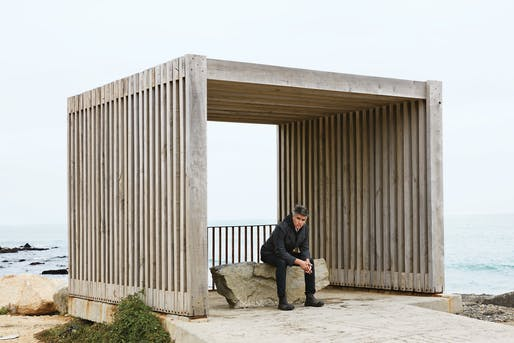 Alejandro Aravena at the seafront. Photograph by Anthony Cotsifas.