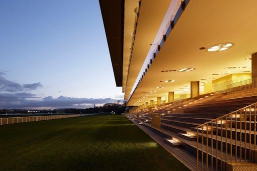 The new Longchamp Racecourse in Paris by Dominique Perrault Architecture. Photo © Vincent Fillon/Dominique Perrault Architecte/Adagp.