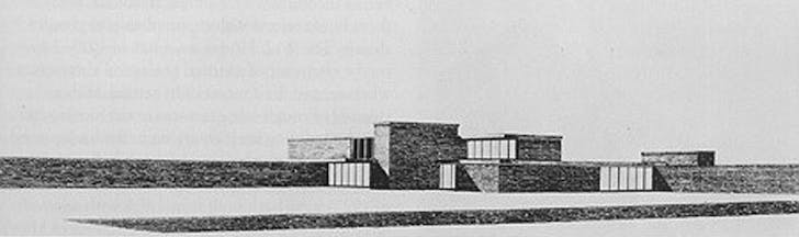 Mies van der Rohe's sketch of the Brick Country House, aka Brick Country Villa. Image via '5 Projects: Interview 5 - Alex Maymind' on Archinect.