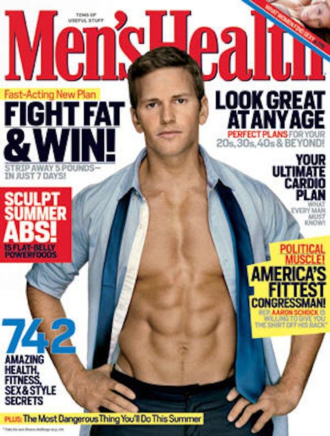Aaron Schock on the cover of Men's Health. Credit: Men's Health