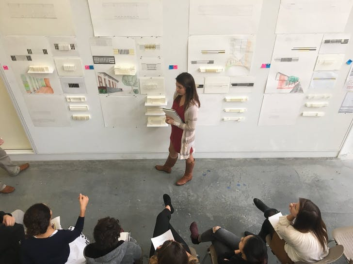 Freshman fall studio review at Clemson University in South Carolina. Image via Clemson University.