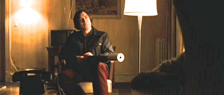 Anton Chigurh, No Country for Old Men. Image via commentarytrack.com.