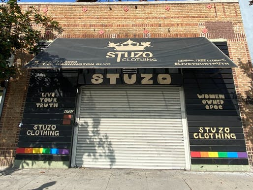 Stuzo Clothing, one of the small business partners the students worked with.