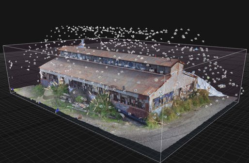 These points indicate every location where a Skydio drone using 3D Scan captured a photo. Image: Skydio