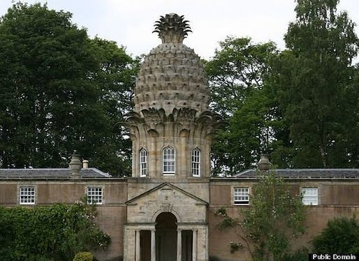 "The Dunmore Pineapple, built in 1761, is said to ""rank as the most bizarre building in Scotland."" The building, home to the Earls of Dunmore, contained a hothouse, used for, you guessed it, growing pineapples."