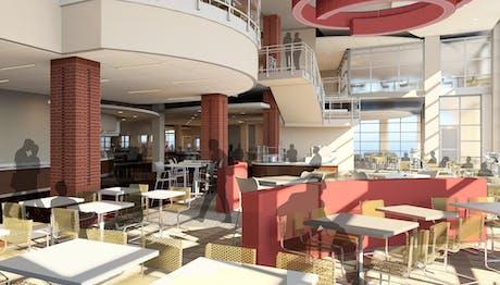 OSU Building J Dining Interior Render
