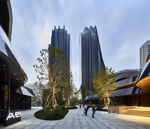 Chaoyang Park Plaza in Beijing by MAD Architects. Photo © Hufton+Crow.