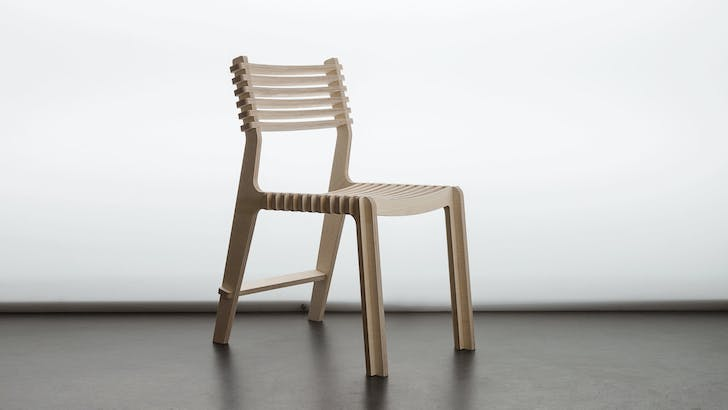 A chair designed by Denis Fuzii for Opendesk. Images courtesy Opendesk.