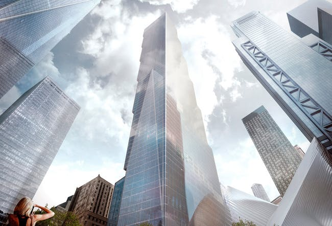 Rendering of BIG's proposal for Two World Trade Center.