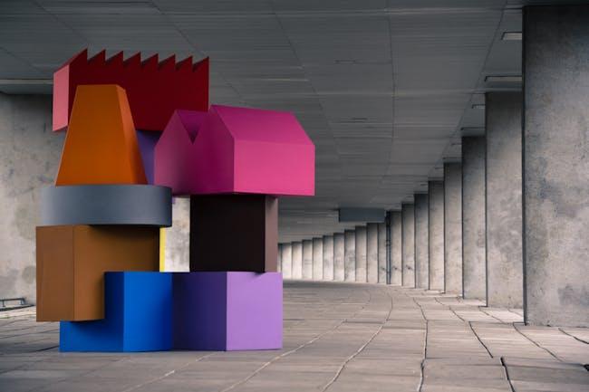 MVRDV's 'Vertical Village' foam furniture collection. Photo courtesy of MVRDV.