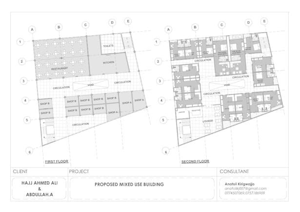 Proposed Mixed Use Building Anatoli Kirigwajjo Archinect