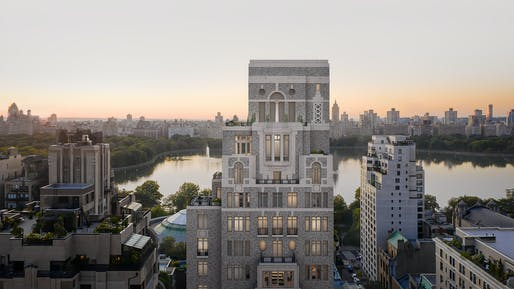 Rendering of 1228 Madison Avenue. Image courtesy of Grain London.