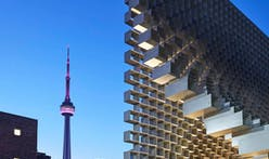 The Bjarke Ingels-designed 2016 Serpentine Pavilion makes an appearance in Toronto before traveling further