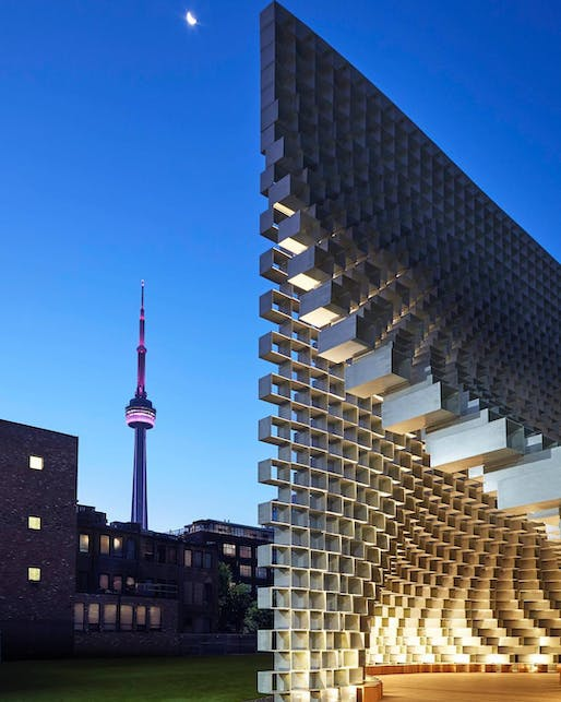 """Look, I'm in Toronto!"" said Bjarke Ingel's 2016 Serpentine Pavilion in 2018. Photo: @westbankcorp/<a href=""https://www.instagram.com/p/Bnlqx6IFjpP/?taken-by=westbankcorp"">Instagram</a>"