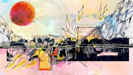 Architecture digital sketch