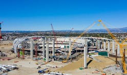 Inglewood NFL Stadium takes shape as roof truss is set into place
