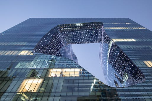 Photo of Zaha Hadid's ME Dubai Hotel at the Opus. Photo: Laurian Ghinitoiu