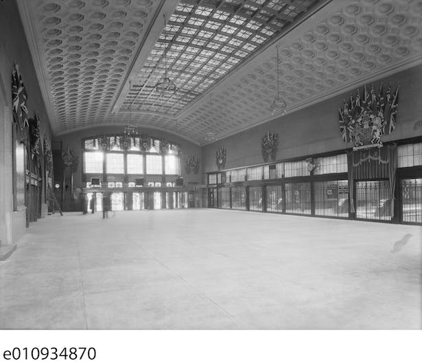 Ottawa train station concourse 1939 Library and Archives Canada