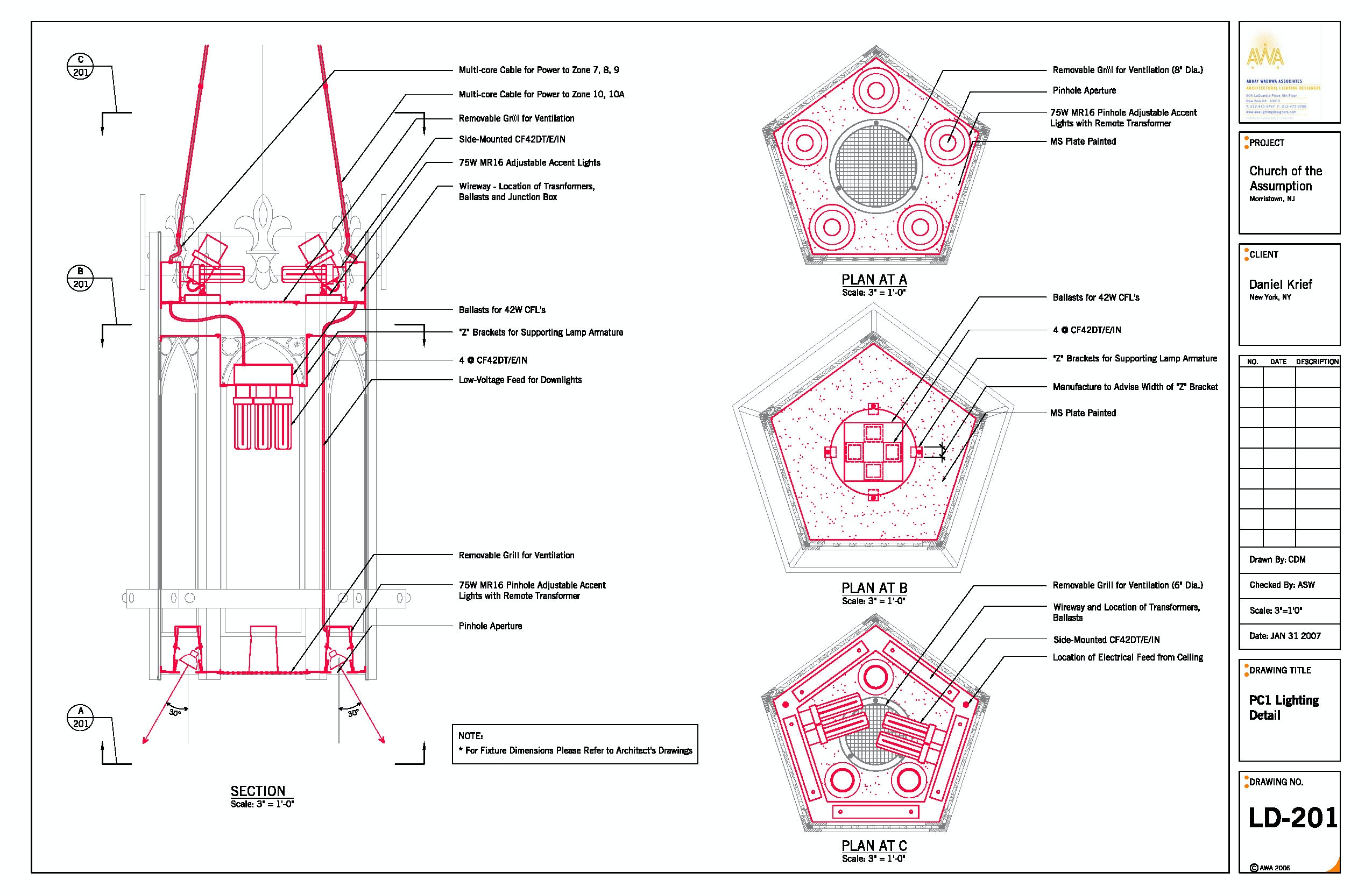 Church Lighting Diagram Trusted Wiring Theater Of Assumption Awa Designers Archinect Layout