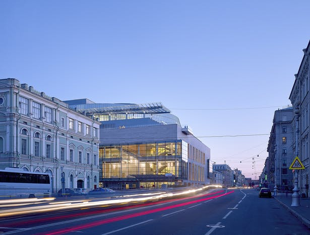 Mariinsky II Theatre adjacent to historic Mariinsky Theatre