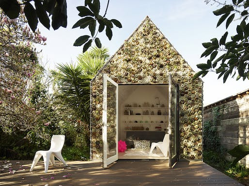 3D printed cabin, designed and built by Ronald Rael and Virginia San Fratello's studio, Rael San Fratello.