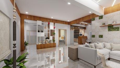 Interior design of a bungalow
