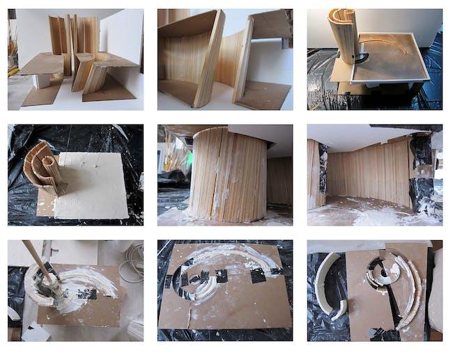 Making the plaster model. Courtesy of Studio Christian Wassmann.