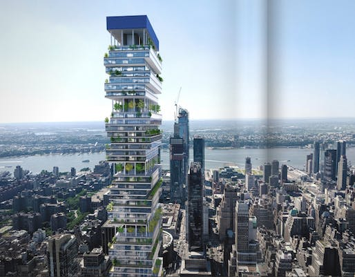 "Rendering of Facebook's ""possible"" supertall taken from brochure. Image © Vornado"
