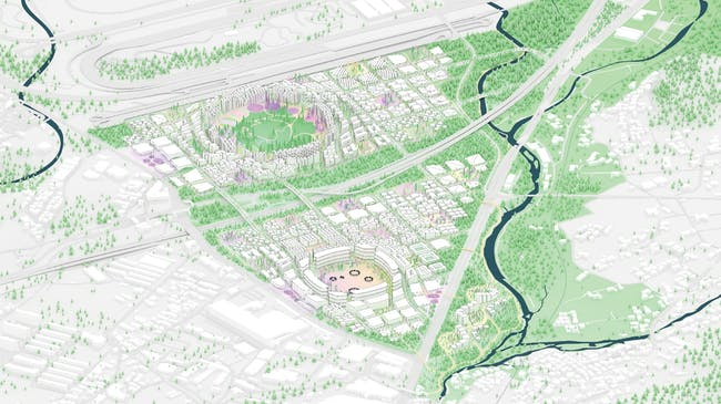 Diagram - Toyota Woven City. Image: BIG   Bjarke Ingels Group.