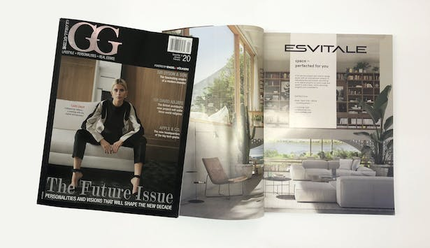 DOUBLE FEATURE IN GG MAGAZINE, PREMIER ARCHITECTURE AND LIFESTYLE MAGAZINE BY EV INTERNATIONAL