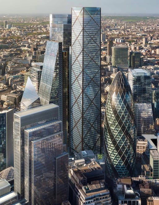 'At the higher level of buildings, this is really the endgame,' says Eric Parry. 'I don't think there's more coming on this scale.' Image via theguardian.com.