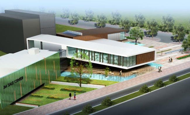 Qinhuangdao Sales Center by Degen & Degen.