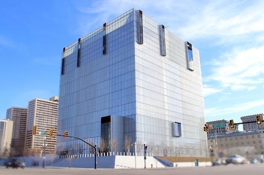 The Salt Lake City federal courthouse, designed by Thomas Phifer & Partners with Naylor Wentworth Lund Architects in 1996.Photo courtesy of Reaveley Engineers + Associates.