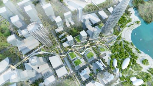 Shenzhen Bay Avenue by WilkinsonEyre and Morphis © Wilkinson Eyre and Morphis