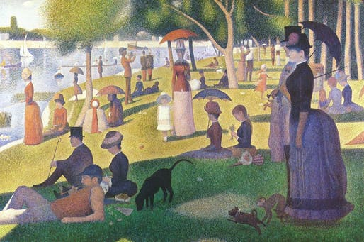 Sunday Afternoon on the Island of la Grande Jatte, 1886 by Georges Seurat. Image courtesy of Helen Birch Bartlett Memorial Collection/Wiki Commons