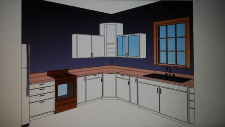 Kitchen Layout for a Residential Bungalow.