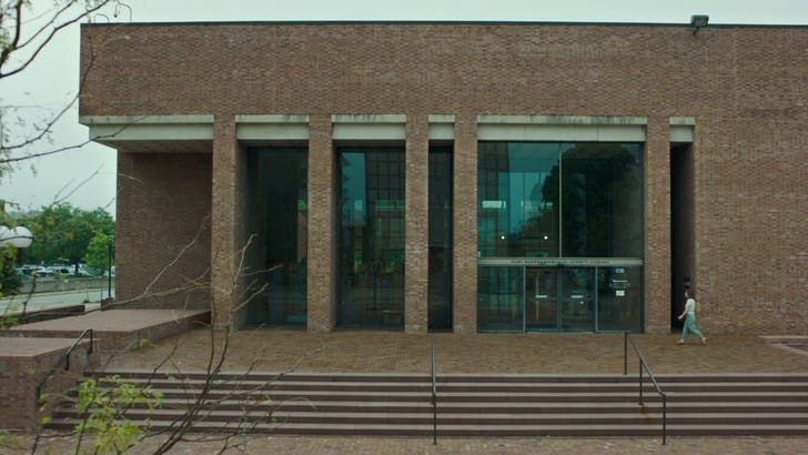 County Library by I.M.Pei. 'Columbus' film still