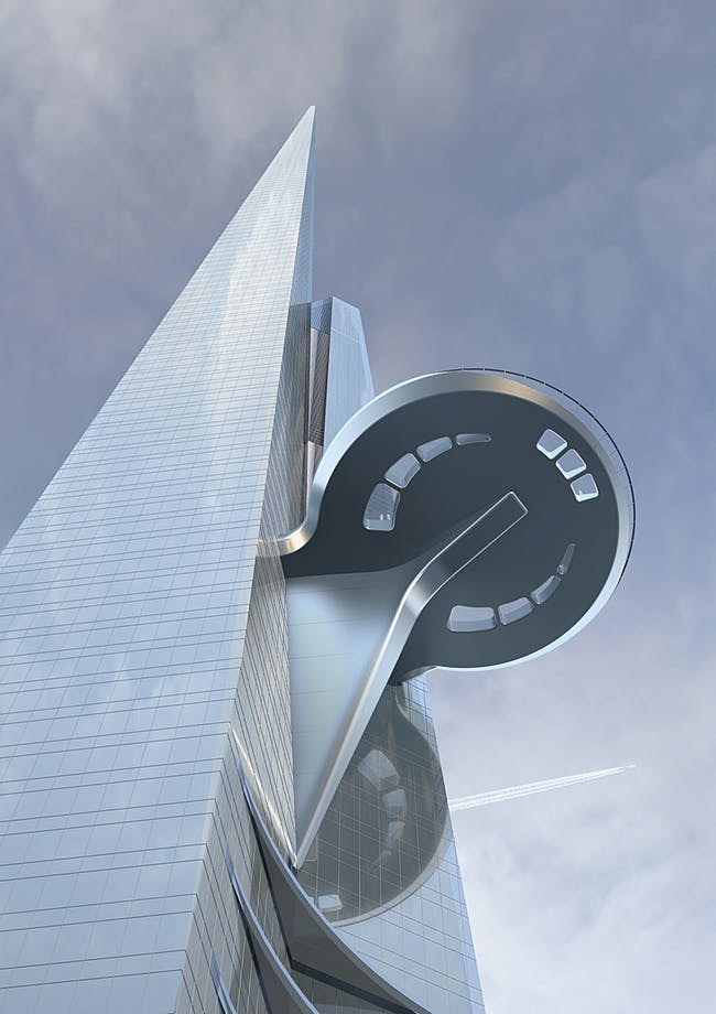 Sky terrace looking up (Image: Adrian Smith + Gordon Gill Architecture)