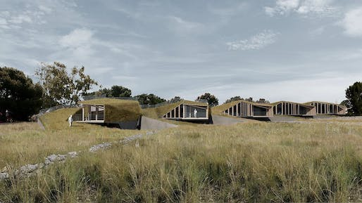 I Ramarri (Siracusa, Italy, 2012), terraced houses overlooking an agrarian landscape framed by the sea. Project by AION (Aleksandra Jaeschke and Andrea Di Stefano).