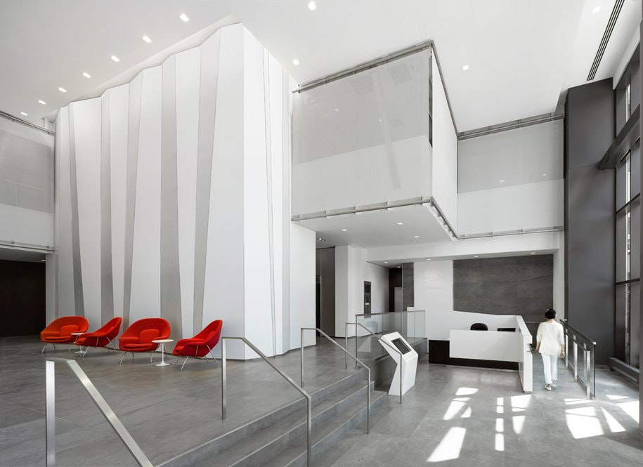 Gkd Metal Mesh Plays Disappearing Act On Interior Office